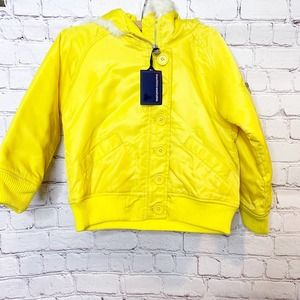 NWT Baby Gap Yellow Puffer Coat 5Y